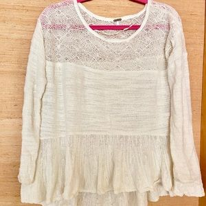 Free people ivory sweaters